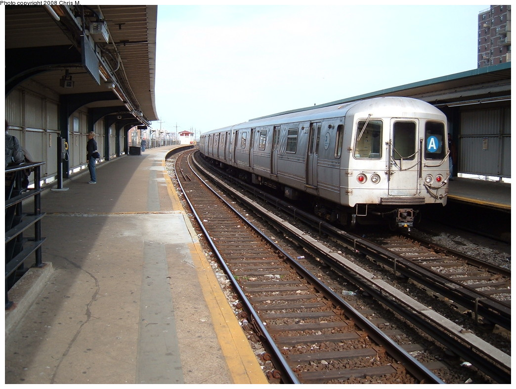 (240k, 1044x788)<br><b>Country:</b> United States<br><b>City:</b> New York<br><b>System:</b> New York City Transit<br><b>Line:</b> IND Rockaway<br><b>Location:</b> Beach 60th Street/Straiton <br><b>Route:</b> A<br><b>Car:</b> R-44 (St. Louis, 1971-73) 5450 <br><b>Photo by:</b> Chris M.<br><b>Date:</b> 4/21/2008<br><b>Viewed (this week/total):</b> 1 / 1491
