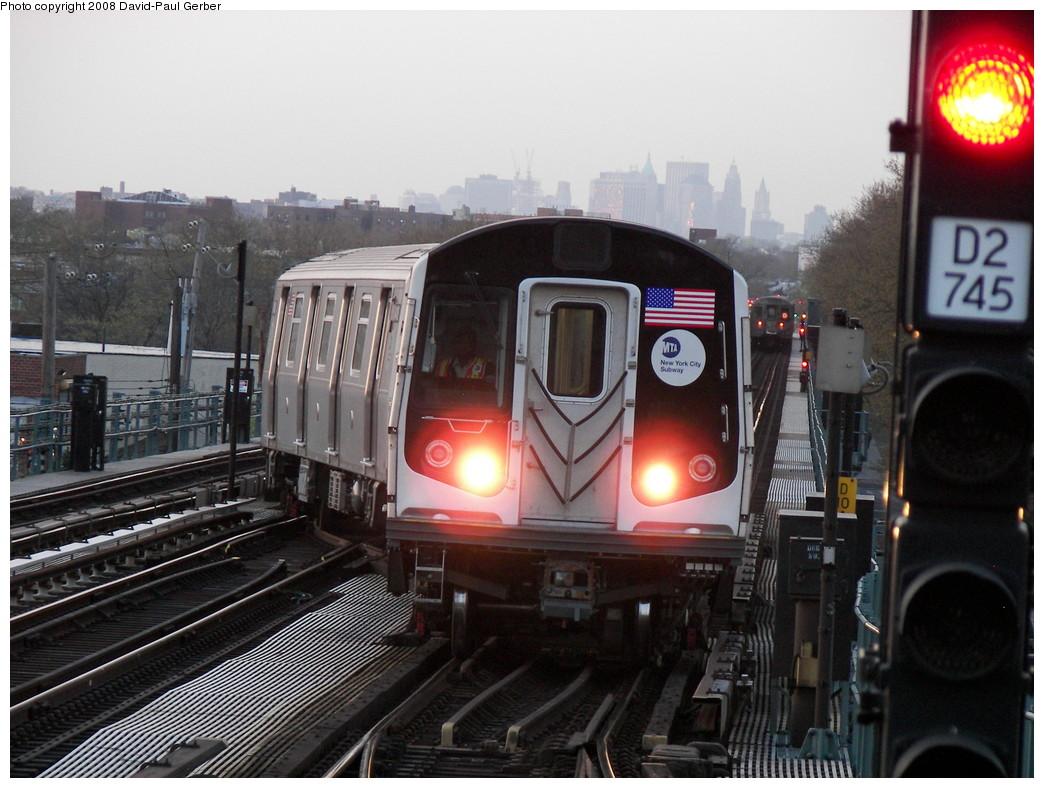 (269k, 1044x788)<br><b>Country:</b> United States<br><b>City:</b> New York<br><b>System:</b> New York City Transit<br><b>Line:</b> BMT West End Line<br><b>Location:</b> Bay 50th Street <br><b>Route:</b> Testing<br><b>Car:</b> R-160A/R-160B Series (Number Unknown)  <br><b>Photo by:</b> David-Paul Gerber<br><b>Date:</b> 4/22/2008<br><b>Viewed (this week/total):</b> 0 / 2905