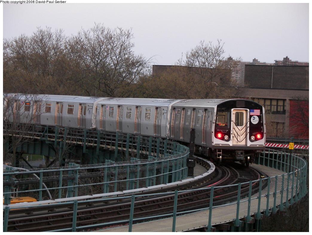 (297k, 1044x788)<br><b>Country:</b> United States<br><b>City:</b> New York<br><b>System:</b> New York City Transit<br><b>Line:</b> BMT West End Line<br><b>Location:</b> Bay 50th Street <br><b>Route:</b> Testing<br><b>Car:</b> R-160A-1 (Alstom, 2005-2008, 4 car sets)  8357 <br><b>Photo by:</b> David-Paul Gerber<br><b>Date:</b> 4/22/2008<br><b>Viewed (this week/total):</b> 0 / 2165