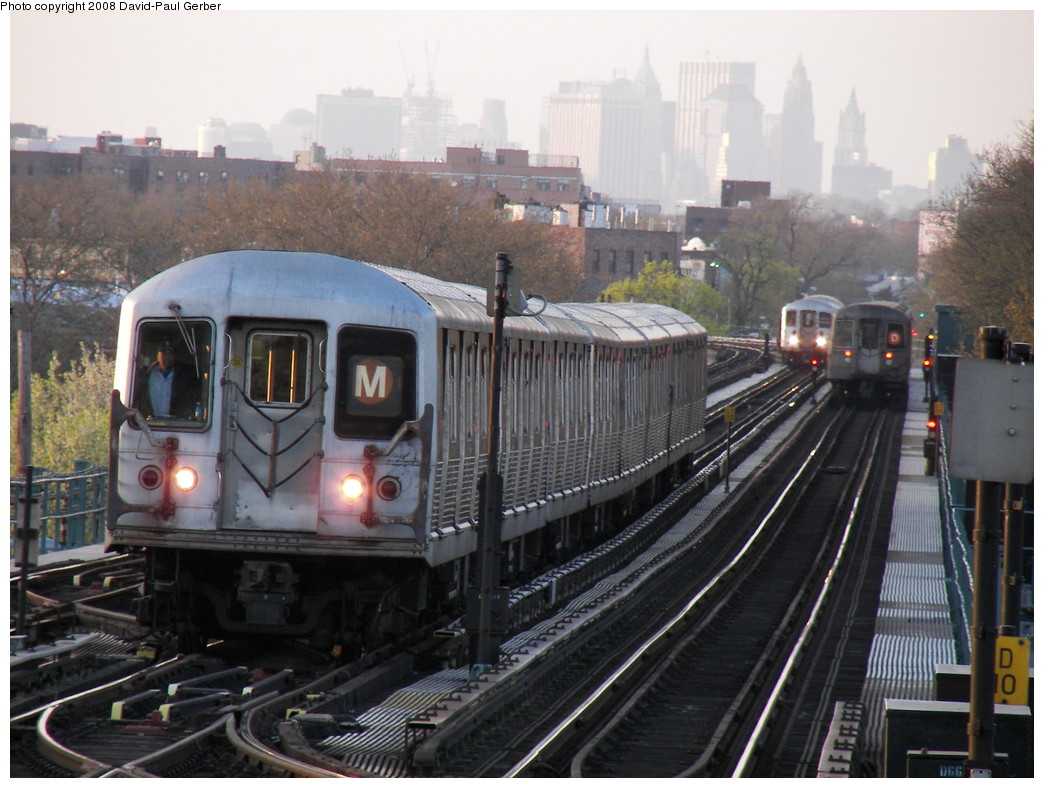(268k, 1044x788)<br><b>Country:</b> United States<br><b>City:</b> New York<br><b>System:</b> New York City Transit<br><b>Line:</b> BMT West End Line<br><b>Location:</b> Bay 50th Street <br><b>Route:</b> M Layup<br><b>Car:</b> R-42 (St. Louis, 1969-1970)   <br><b>Photo by:</b> David-Paul Gerber<br><b>Date:</b> 4/22/2008<br><b>Viewed (this week/total):</b> 0 / 2263