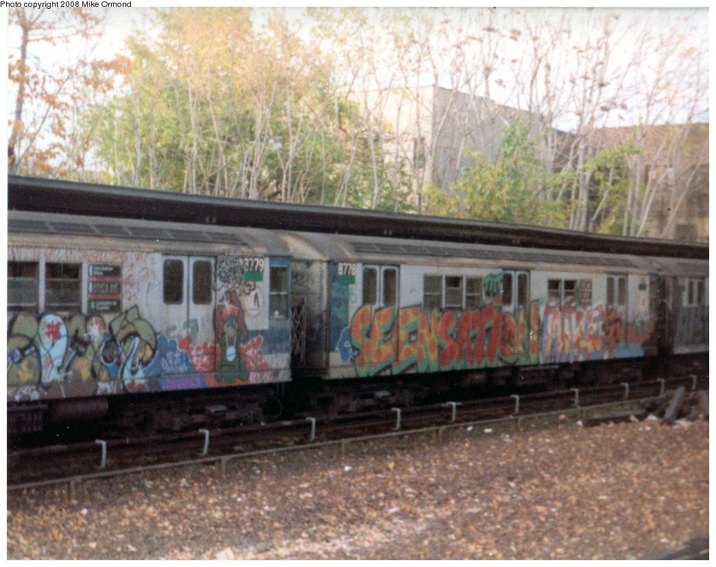 (339k, 1044x827)<br><b>Country:</b> United States<br><b>City:</b> New York<br><b>System:</b> New York City Transit<br><b>Line:</b> IRT Dyre Ave. Line<br><b>Location:</b> Gun Hill Road <br><b>Car:</b> R-29 (St. Louis, 1962) 8778 <br><b>Photo by:</b> Mike Ormond<br><b>Notes:</b> 1981 or 1982<br><b>Viewed (this week/total):</b> 1 / 2728