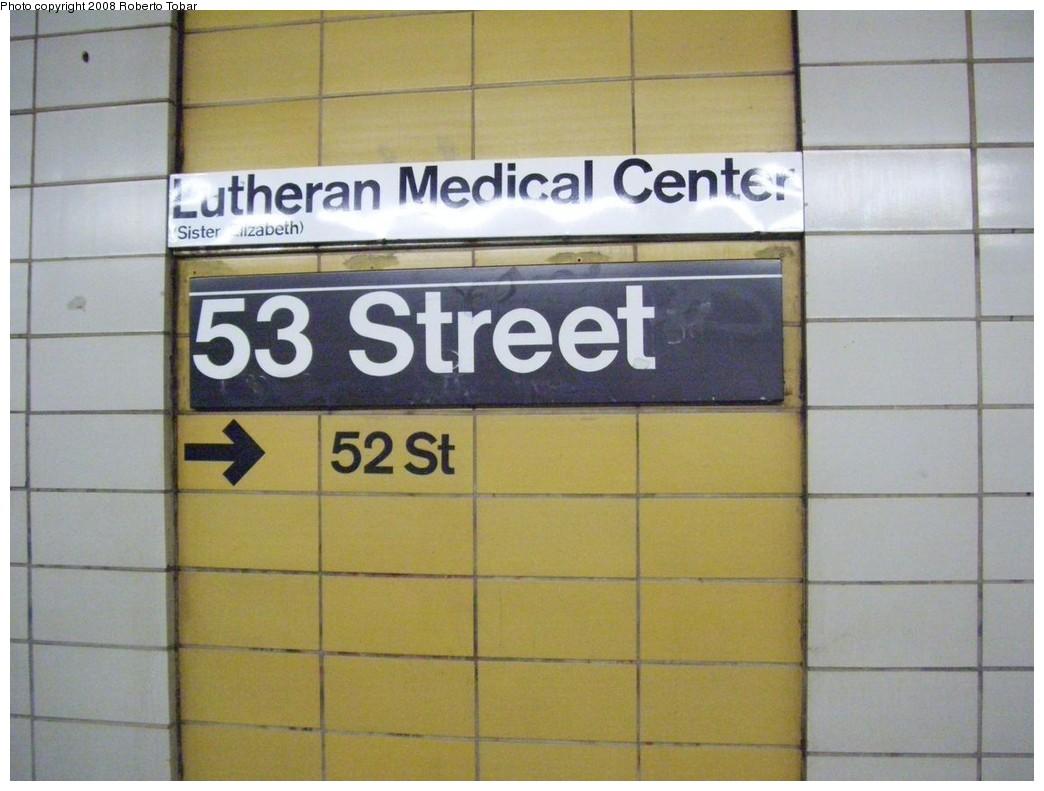 (178k, 1044x791)<br><b>Country:</b> United States<br><b>City:</b> New York<br><b>System:</b> New York City Transit<br><b>Line:</b> BMT 4th Avenue<br><b>Location:</b> 53rd Street <br><b>Photo by:</b> Roberto C. Tobar<br><b>Date:</b> 4/26/2008<br><b>Viewed (this week/total):</b> 2 / 1641