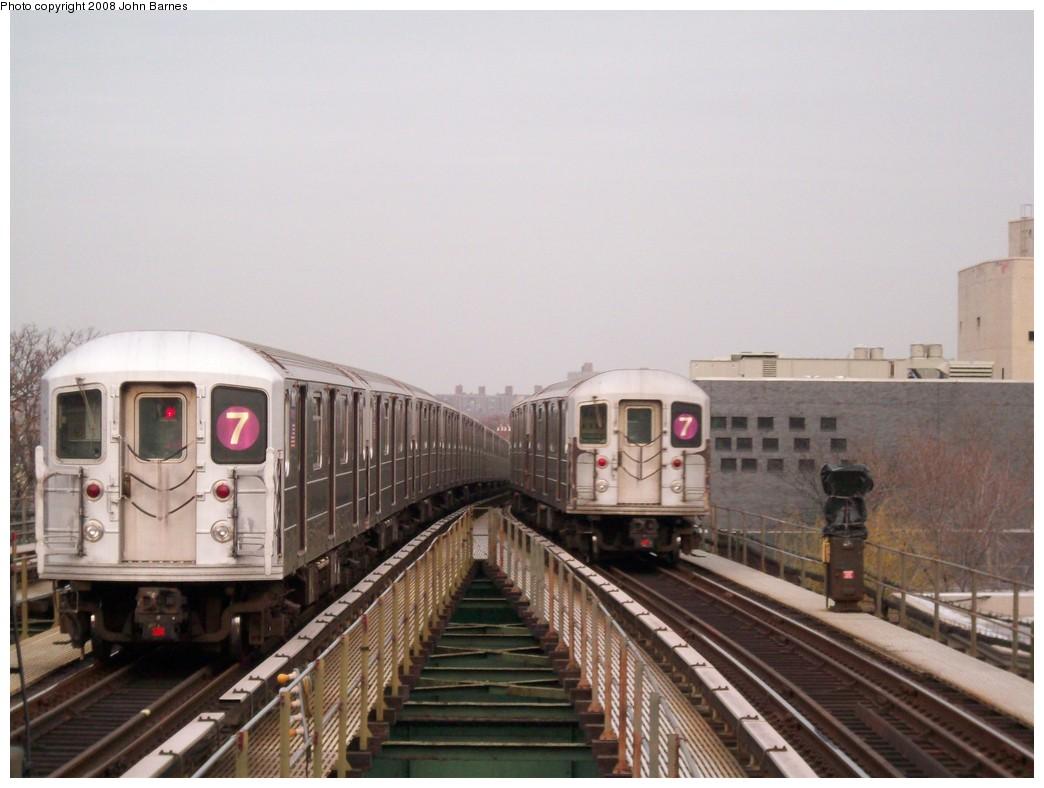 (178k, 1044x788)<br><b>Country:</b> United States<br><b>City:</b> New York<br><b>System:</b> New York City Transit<br><b>Line:</b> IRT Flushing Line<br><b>Location:</b> Junction Boulevard <br><b>Route:</b> 7<br><b>Car:</b> R-62A (Bombardier, 1984-1987)  1791 <br><b>Photo by:</b> John Barnes<br><b>Date:</b> 4/7/2008<br><b>Viewed (this week/total):</b> 1 / 1642