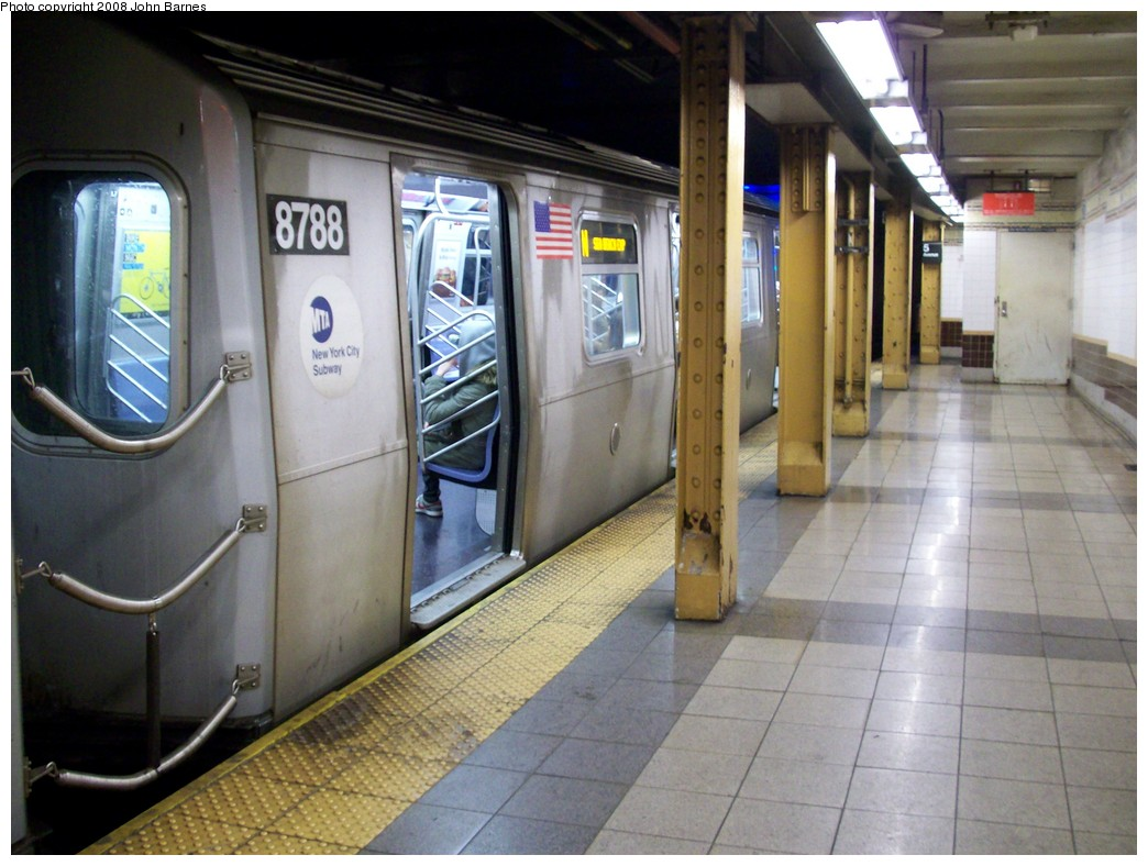 (206k, 1044x788)<br><b>Country:</b> United States<br><b>City:</b> New York<br><b>System:</b> New York City Transit<br><b>Line:</b> BMT Broadway Line<br><b>Location:</b> 5th Avenue <br><b>Route:</b> N<br><b>Car:</b> R-160B (Kawasaki, 2005-2008)  8788 <br><b>Photo by:</b> John Barnes<br><b>Date:</b> 4/27/2008<br><b>Viewed (this week/total):</b> 2 / 3401