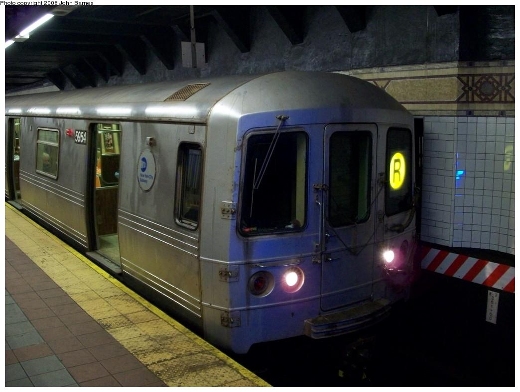(188k, 1044x788)<br><b>Country:</b> United States<br><b>City:</b> New York<br><b>System:</b> New York City Transit<br><b>Location:</b> DeKalb Avenue<br><b>Route:</b> R<br><b>Car:</b> R-46 (Pullman-Standard, 1974-75) 5954 <br><b>Photo by:</b> John Barnes<br><b>Date:</b> 4/27/2008<br><b>Viewed (this week/total):</b> 0 / 2416