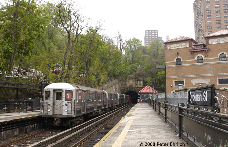 (229k, 864x557)<br><b>Country:</b> United States<br><b>City:</b> New York<br><b>System:</b> New York City Transit<br><b>Line:</b> IRT West Side Line<br><b>Location:</b> Dyckman Street <br><b>Car:</b> R-62A (Bombardier, 1984-1987)  1826 <br><b>Photo by:</b> Peter Ehrlich<br><b>Date:</b> 5/2/2008<br><b>Viewed (this week/total):</b> 0 / 1748