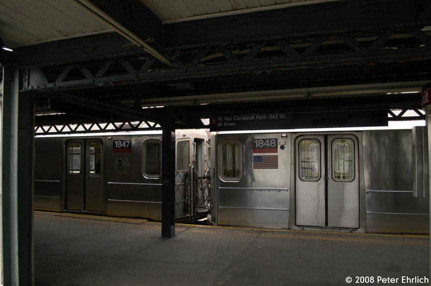 (129k, 864x574)<br><b>Country:</b> United States<br><b>City:</b> New York<br><b>System:</b> New York City Transit<br><b>Line:</b> IRT West Side Line<br><b>Location:</b> 225th Street <br><b>Car:</b> R-62A (Bombardier, 1984-1987)  1847 <br><b>Photo by:</b> Peter Ehrlich<br><b>Date:</b> 5/2/2008<br><b>Viewed (this week/total):</b> 2 / 2034