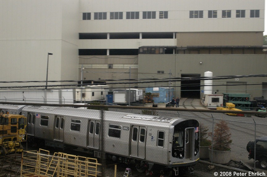 (167k, 864x574)<br><b>Country:</b> United States<br><b>City:</b> New York<br><b>System:</b> New York City Transit<br><b>Location:</b> Kawasaki Plant, Yonkers, NY<br><b>Car:</b> R-160B (Option 1) (Kawasaki, 2008-2009)  8992 <br><b>Photo by:</b> Peter Ehrlich<br><b>Date:</b> 5/2/2008<br><b>Viewed (this week/total):</b> 1 / 1529