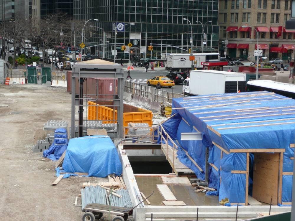 (157k, 1000x750)<br><b>Country:</b> United States<br><b>City:</b> New York<br><b>System:</b> New York City Transit<br><b>Line:</b> IRT West Side Line<br><b>Location:</b> South Ferry (New Station) <br><b>Photo by:</b> Robbie Rosenfeld<br><b>Date:</b> 4/7/2008<br><b>Notes:</b> New station construction.<br><b>Viewed (this week/total):</b> 2 / 1595