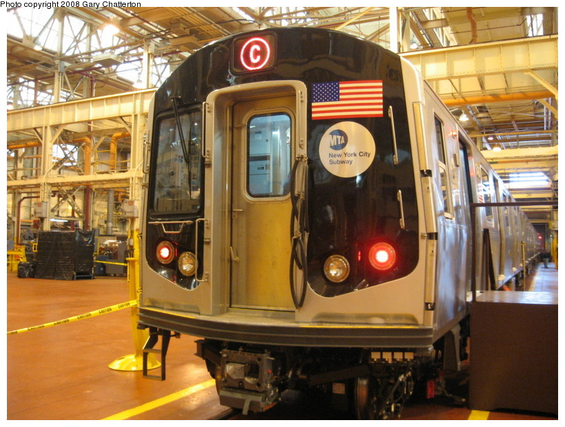 (169k, 820x620)<br><b>Country:</b> United States<br><b>City:</b> New York<br><b>System:</b> New York City Transit<br><b>Location:</b> Coney Island Shop/Overhaul & Repair Shop<br><b>Car:</b> R-160A-1 (Alstom, 2005-2008, 4 car sets)  8480 <br><b>Photo by:</b> Gary Chatterton<br><b>Date:</b> 4/12/2008<br><b>Viewed (this week/total):</b> 0 / 2850