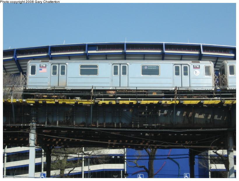 (135k, 820x620)<br><b>Country:</b> United States<br><b>City:</b> New York<br><b>System:</b> New York City Transit<br><b>Line:</b> IRT Flushing Line<br><b>Location:</b> Willets Point/Mets (fmr. Shea Stadium) <br><b>Route:</b> 7<br><b>Car:</b> R-62A (Bombardier, 1984-1987)  1716 <br><b>Photo by:</b> Gary Chatterton<br><b>Date:</b> 4/19/2008<br><b>Viewed (this week/total):</b> 0 / 1352