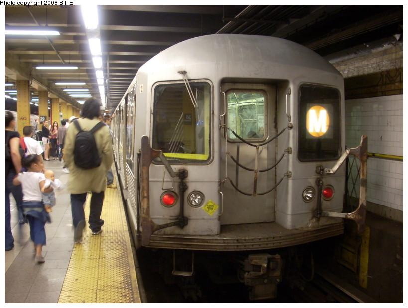 (157k, 819x619)<br><b>Country:</b> United States<br><b>City:</b> New York<br><b>System:</b> New York City Transit<br><b>Line:</b> BMT 4th Avenue<br><b>Location:</b> 36th Street <br><b>Route:</b> M<br><b>Car:</b> R-42 (St. Louis, 1969-1970)   <br><b>Photo by:</b> Bill E.<br><b>Date:</b> 4/23/2008<br><b>Viewed (this week/total):</b> 5 / 2495
