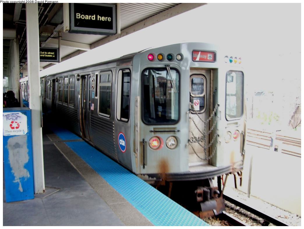 (234k, 1044x788)<br><b>Country:</b> United States<br><b>City:</b> Chicago, IL<br><b>System:</b> Chicago Transit Authority<br><b>Line:</b> CTA Orange (Midway)<br><b>Location:</b> Ashland<br><b>Car:</b> CTA 3200 Series 3246 <br><b>Photo by:</b> David Pirmann<br><b>Date:</b> 5/3/2008<br><b>Viewed (this week/total):</b> 0 / 934