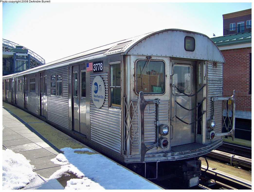 (255k, 1044x788)<br><b>Country:</b> United States<br><b>City:</b> New York<br><b>System:</b> New York City Transit<br><b>Location:</b> Coney Island/Stillwell Avenue<br><b>Route:</b> F<br><b>Car:</b> R-32 (Budd, 1964)  3778 <br><b>Photo by:</b> DeAndre Burrell<br><b>Date:</b> 4/12/2007<br><b>Viewed (this week/total):</b> 1 / 2250