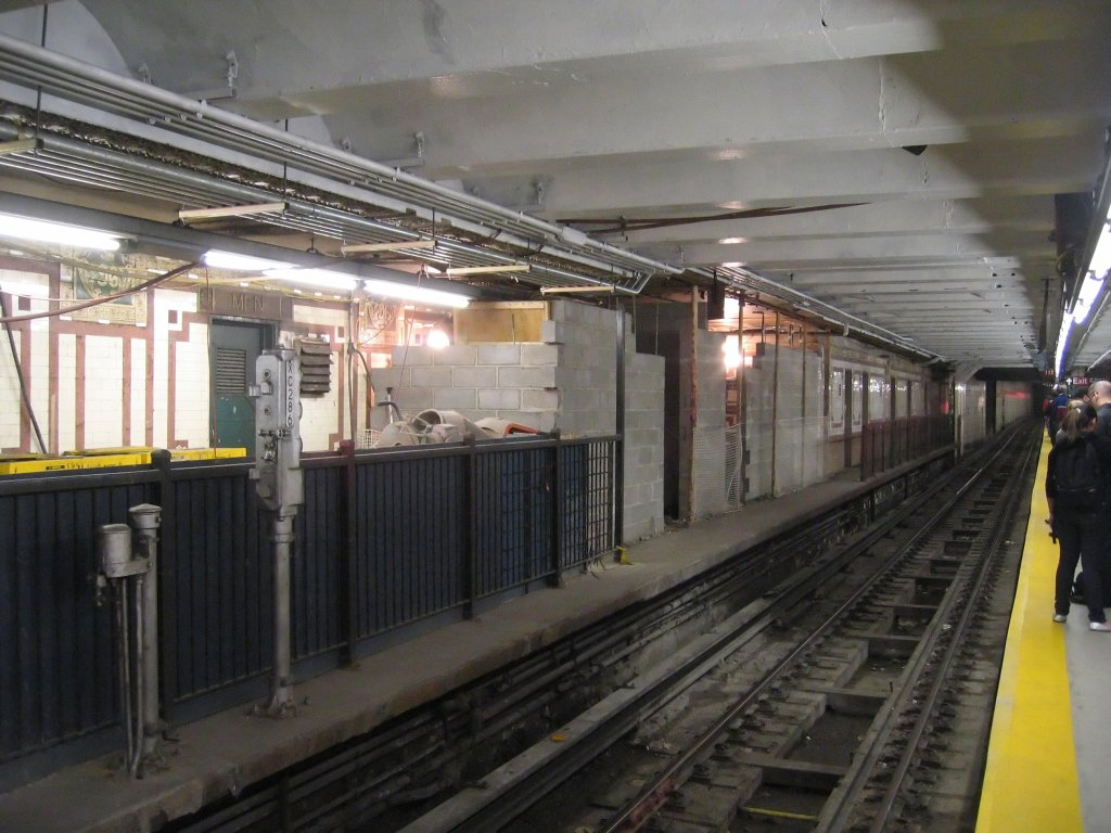 (145k, 1024x768)<br><b>Country:</b> United States<br><b>City:</b> New York<br><b>System:</b> New York City Transit<br><b>Line:</b> IRT West Side Line<br><b>Location:</b> 96th Street <br><b>Photo by:</b> Brian Weinberg<br><b>Date:</b> 5/8/2008<br><b>Notes:</b> Northbound side local platform- new rooms being built on platform.<br><b>Viewed (this week/total):</b> 1 / 2407