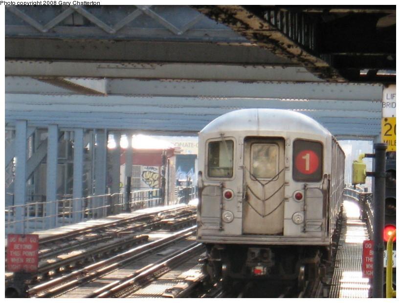 (137k, 820x620)<br><b>Country:</b> United States<br><b>City:</b> New York<br><b>System:</b> New York City Transit<br><b>Line:</b> IRT West Side Line<br><b>Location:</b> 225th Street <br><b>Route:</b> 1<br><b>Car:</b> R-62A (Bombardier, 1984-1987)  1850 <br><b>Photo by:</b> Gary Chatterton<br><b>Date:</b> 3/11/2008<br><b>Viewed (this week/total):</b> 2 / 1645