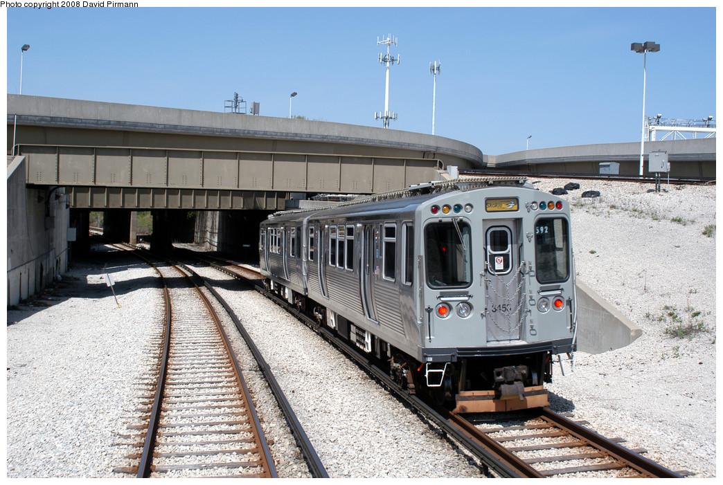 (319k, 1044x701)<br><b>Country:</b> United States<br><b>City:</b> Chicago, IL<br><b>System:</b> Chicago Transit Authority<br><b>Line:</b> CTA Red/Purple/Yellow<br><b>Location:</b> Howard<br><b>Route:</b> Yellow<br><b>Car:</b> CTA 3200 Series 3453 <br><b>Photo by:</b> David Pirmann<br><b>Date:</b> 5/4/2008<br><b>Notes:</b> Skokie train north of Howard.<br><b>Viewed (this week/total):</b> 0 / 965
