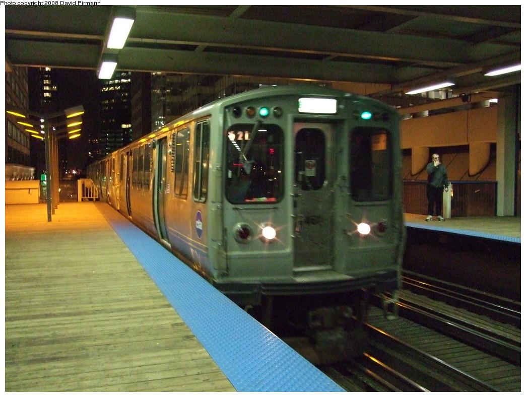 (234k, 1044x788)<br><b>Country:</b> United States<br><b>City:</b> Chicago, IL<br><b>System:</b> Chicago Transit Authority<br><b>Line:</b> CTA Loop<br><b>Location:</b> Clark/Lake<br><b>Route:</b> Green<br><b>Car:</b> CTA 2400 Series 2464 <br><b>Photo by:</b> David Pirmann<br><b>Date:</b> 5/5/2008<br><b>Viewed (this week/total):</b> 0 / 858