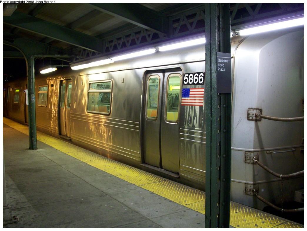 (207k, 1044x788)<br><b>Country:</b> United States<br><b>City:</b> New York<br><b>System:</b> New York City Transit<br><b>Line:</b> BMT Astoria Line<br><b>Location:</b> Queensborough Plaza <br><b>Route:</b> R reroute<br><b>Car:</b> R-46 (Pullman-Standard, 1974-75) 5866 <br><b>Photo by:</b> John Barnes<br><b>Date:</b> 5/11/2008<br><b>Viewed (this week/total):</b> 0 / 1970