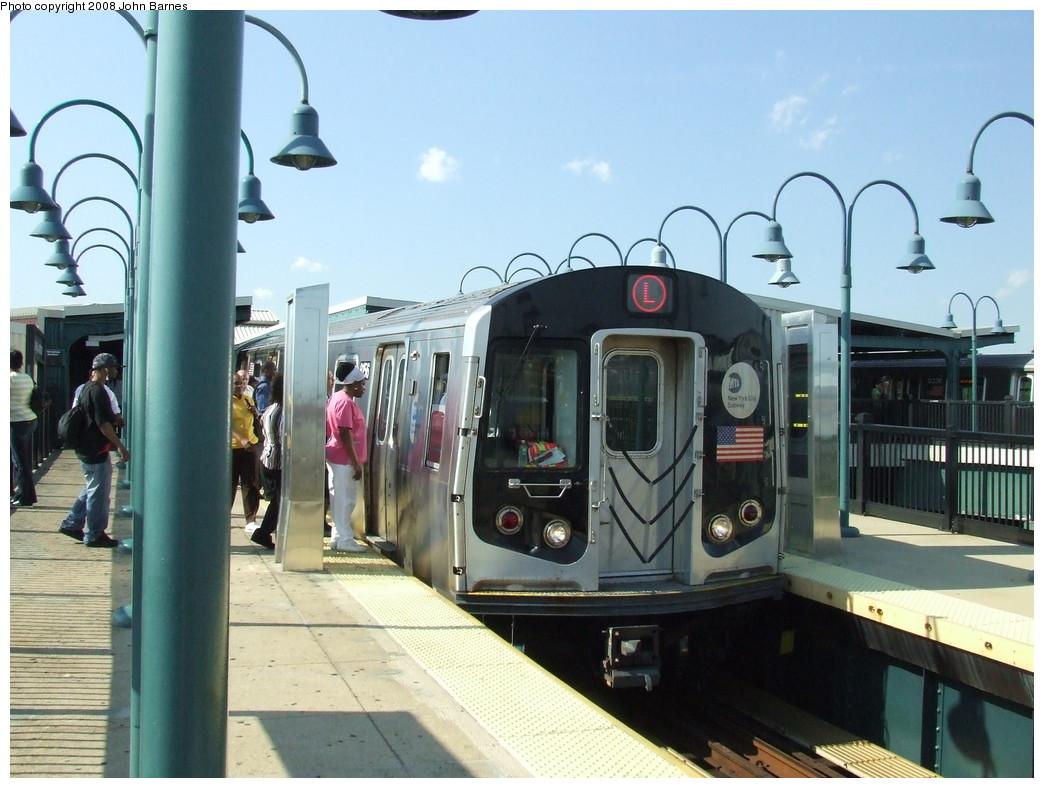 (207k, 1044x788)<br><b>Country:</b> United States<br><b>City:</b> New York<br><b>System:</b> New York City Transit<br><b>Line:</b> BMT Canarsie Line<br><b>Location:</b> Broadway Junction <br><b>Route:</b> L<br><b>Car:</b> R-143 (Kawasaki, 2001-2002) 8156 <br><b>Photo by:</b> John Barnes<br><b>Date:</b> 6/21/2007<br><b>Viewed (this week/total):</b> 0 / 1444