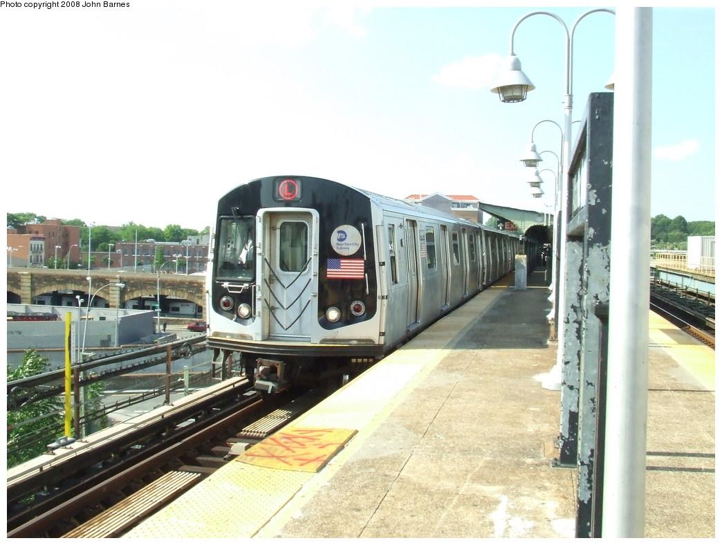 (212k, 1044x788)<br><b>Country:</b> United States<br><b>City:</b> New York<br><b>System:</b> New York City Transit<br><b>Line:</b> BMT Canarsie Line<br><b>Location:</b> Atlantic Avenue <br><b>Route:</b> L<br><b>Car:</b> R-143 (Kawasaki, 2001-2002) 8145 <br><b>Photo by:</b> John Barnes<br><b>Date:</b> 6/21/2007<br><b>Viewed (this week/total):</b> 2 / 2078