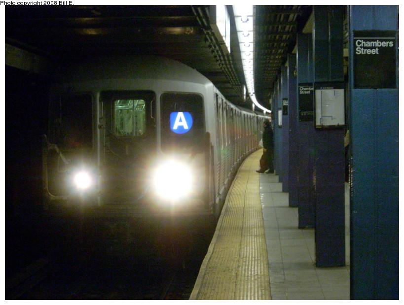 (162k, 819x619)<br><b>Country:</b> United States<br><b>City:</b> New York<br><b>System:</b> New York City Transit<br><b>Line:</b> IND 8th Avenue Line<br><b>Location:</b> Chambers Street/World Trade Center <br><b>Route:</b> A<br><b>Car:</b> R-42 (St. Louis, 1969-1970)  4557 <br><b>Photo by:</b> Bill E.<br><b>Date:</b> 5/17/2008<br><b>Viewed (this week/total):</b> 3 / 2376