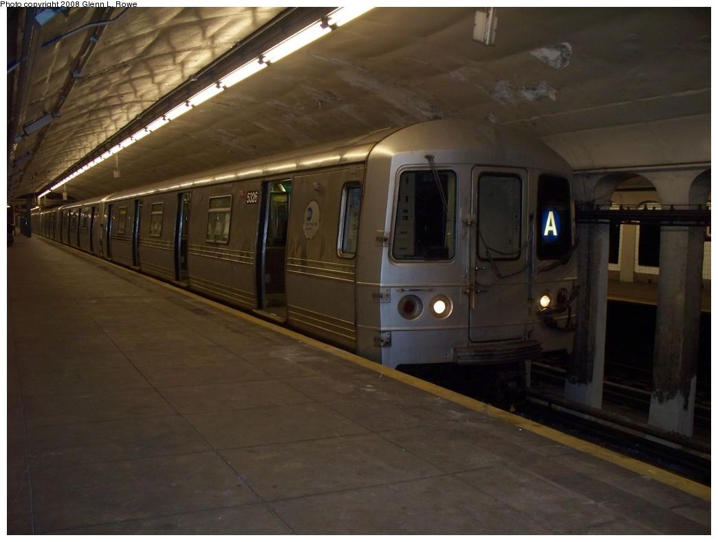 (166k, 1044x789)<br><b>Country:</b> United States<br><b>City:</b> New York<br><b>System:</b> New York City Transit<br><b>Line:</b> IND 8th Avenue Line<br><b>Location:</b> 190th Street/Overlook Terrace <br><b>Route:</b> A<br><b>Car:</b> R-44 (St. Louis, 1971-73) 5326 <br><b>Photo by:</b> Glenn L. Rowe<br><b>Date:</b> 5/15/2008<br><b>Viewed (this week/total):</b> 0 / 2402