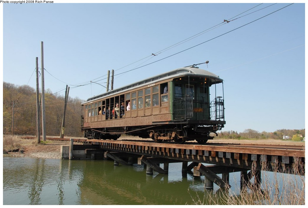 (173k, 1044x705)<br><b>Country:</b> United States<br><b>City:</b> East Haven/Branford, Ct.<br><b>System:</b> Shore Line Trolley Museum <br><b>Car:</b> BMT Elevated Gate Car 1349 <br><b>Photo by:</b> Richard Panse<br><b>Date:</b> 4/26/2008<br><b>Viewed (this week/total):</b> 0 / 1991