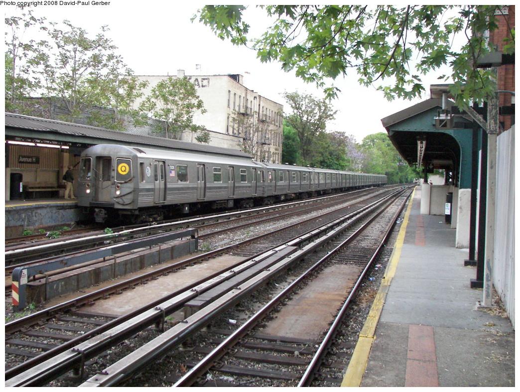 (376k, 1044x788)<br><b>Country:</b> United States<br><b>City:</b> New York<br><b>System:</b> New York City Transit<br><b>Line:</b> BMT Brighton Line<br><b>Location:</b> Avenue H <br><b>Route:</b> Q<br><b>Car:</b> R-68A (Kawasaki, 1988-1989)  5026 <br><b>Photo by:</b> David-Paul Gerber<br><b>Date:</b> 5/15/2008<br><b>Viewed (this week/total):</b> 0 / 1616