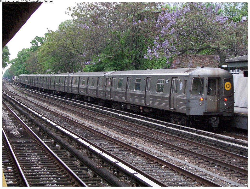 (406k, 1044x788)<br><b>Country:</b> United States<br><b>City:</b> New York<br><b>System:</b> New York City Transit<br><b>Line:</b> BMT Brighton Line<br><b>Location:</b> Avenue H <br><b>Route:</b> Q<br><b>Car:</b> R-68A (Kawasaki, 1988-1989)  5142 <br><b>Photo by:</b> David-Paul Gerber<br><b>Date:</b> 5/15/2008<br><b>Viewed (this week/total):</b> 1 / 1502