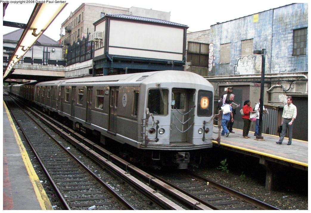 (315k, 1044x717)<br><b>Country:</b> United States<br><b>City:</b> New York<br><b>System:</b> New York City Transit<br><b>Line:</b> BMT Brighton Line<br><b>Location:</b> Newkirk Plaza (fmrly Newkirk Ave.) <br><b>Route:</b> B<br><b>Car:</b> R-40M (St. Louis, 1969)  4518 <br><b>Photo by:</b> David-Paul Gerber<br><b>Date:</b> 5/15/2008<br><b>Viewed (this week/total):</b> 0 / 1831