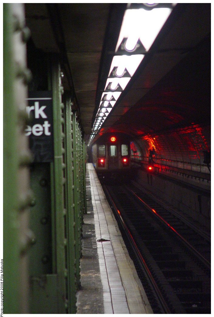 (179k, 705x1044)<br><b>Country:</b> United States<br><b>City:</b> New York<br><b>System:</b> New York City Transit<br><b>Line:</b> IRT Brooklyn Line<br><b>Location:</b> Clark Street <br><b>Route:</b> 2<br><b>Car:</b> R-142 or R-142A (Number Unknown)  <br><b>Photo by:</b> Filip Matuska<br><b>Date:</b> 6/8/2007<br><b>Viewed (this week/total):</b> 0 / 2497