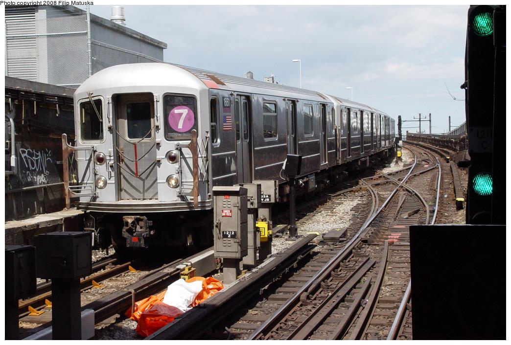 (232k, 1044x705)<br><b>Country:</b> United States<br><b>City:</b> New York<br><b>System:</b> New York City Transit<br><b>Line:</b> IRT Flushing Line<br><b>Location:</b> Hunterspoint Avenue <br><b>Route:</b> 7<br><b>Car:</b> R-62A (Bombardier, 1984-1987)  1661 <br><b>Photo by:</b> Filip Matuska<br><b>Date:</b> 6/11/2007<br><b>Viewed (this week/total):</b> 0 / 1960