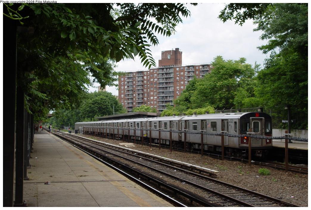(259k, 1044x705)<br><b>Country:</b> United States<br><b>City:</b> New York<br><b>System:</b> New York City Transit<br><b>Line:</b> IRT Dyre Ave. Line<br><b>Location:</b> Baychester Avenue <br><b>Route:</b> 5<br><b>Car:</b> R-142 (Primary Order, Bombardier, 1999-2002)  6745 <br><b>Photo by:</b> Filip Matuska<br><b>Date:</b> 6/12/2007<br><b>Viewed (this week/total):</b> 1 / 3027