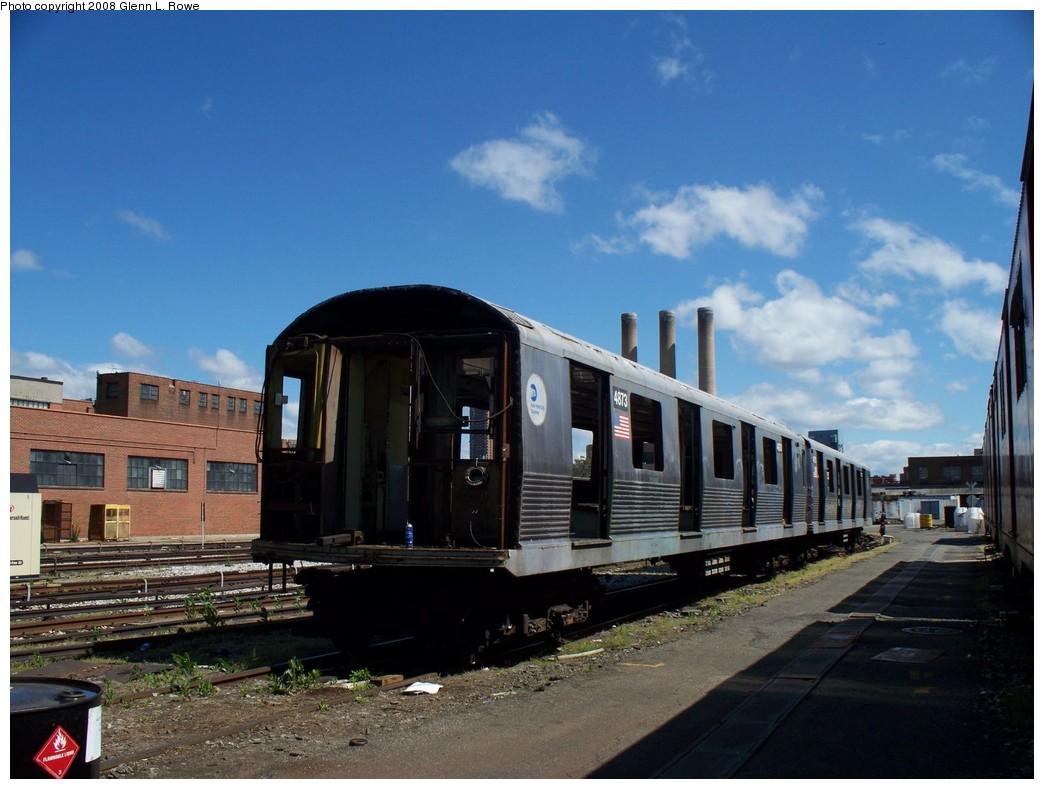 (194k, 1044x789)<br><b>Country:</b> United States<br><b>City:</b> New York<br><b>System:</b> New York City Transit<br><b>Location:</b> 207th Street Yard<br><b>Car:</b> R-42 (St. Louis, 1969-1970)  4873 <br><b>Photo by:</b> Glenn L. Rowe<br><b>Date:</b> 5/23/2008<br><b>Viewed (this week/total):</b> 2 / 1078