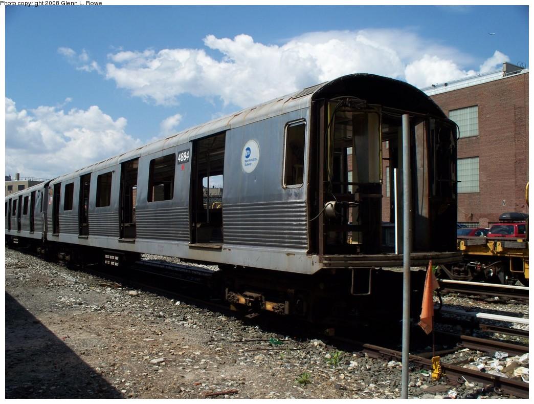 (240k, 1044x789)<br><b>Country:</b> United States<br><b>City:</b> New York<br><b>System:</b> New York City Transit<br><b>Location:</b> 207th Street Yard<br><b>Car:</b> R-42 (St. Louis, 1969-1970)  4884 <br><b>Photo by:</b> Glenn L. Rowe<br><b>Date:</b> 5/21/2008<br><b>Viewed (this week/total):</b> 0 / 1255