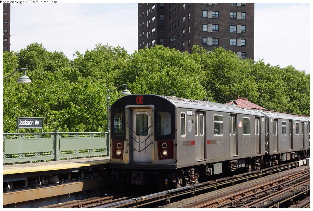 (284k, 1044x705)<br><b>Country:</b> United States<br><b>City:</b> New York<br><b>System:</b> New York City Transit<br><b>Line:</b> IRT White Plains Road Line<br><b>Location:</b> Jackson Avenue <br><b>Route:</b> 2<br><b>Car:</b> R-142 (Primary Order, Bombardier, 1999-2002)  6690 <br><b>Photo by:</b> Filip Matuska<br><b>Date:</b> 6/12/2007<br><b>Viewed (this week/total):</b> 0 / 2818