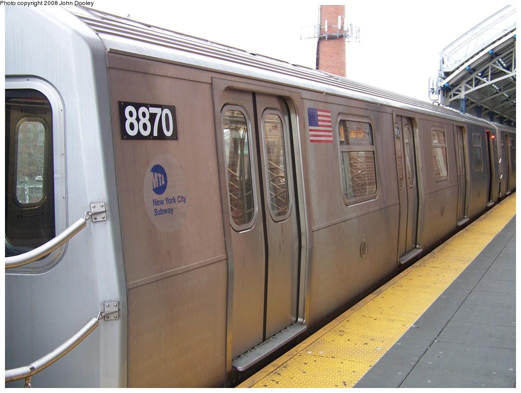 (189k, 1044x789)<br><b>Country:</b> United States<br><b>City:</b> New York<br><b>System:</b> New York City Transit<br><b>Location:</b> Coney Island/Stillwell Avenue<br><b>Route:</b> N<br><b>Car:</b> R-160B (Kawasaki, 2005-2008)  8870 <br><b>Photo by:</b> John Dooley<br><b>Date:</b> 1/19/2007<br><b>Viewed (this week/total):</b> 0 / 1716