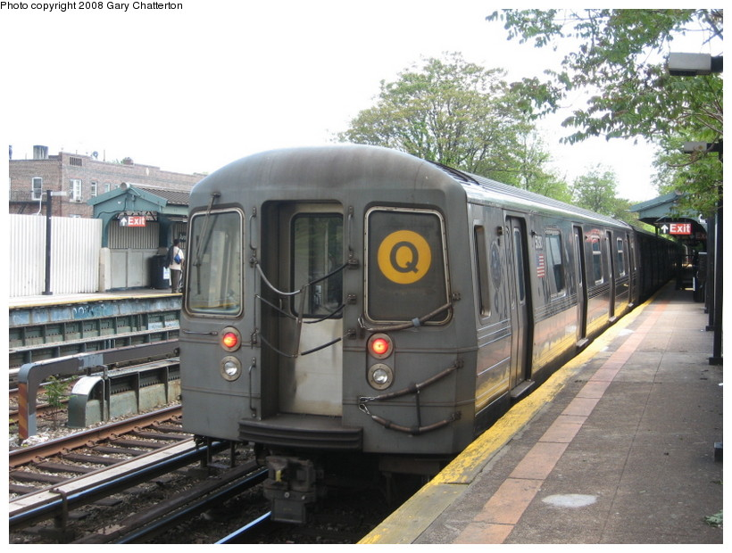 (150k, 820x620)<br><b>Country:</b> United States<br><b>City:</b> New York<br><b>System:</b> New York City Transit<br><b>Line:</b> BMT Brighton Line<br><b>Location:</b> Avenue M <br><b>Route:</b> Q<br><b>Car:</b> R-68A (Kawasaki, 1988-1989)  5030 <br><b>Photo by:</b> Gary Chatterton<br><b>Date:</b> 5/21/2008<br><b>Viewed (this week/total):</b> 4 / 1727