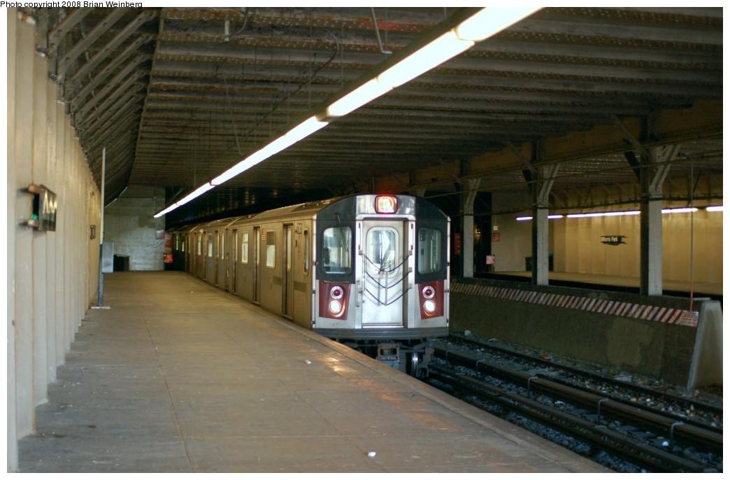 (217k, 1044x686)<br><b>Country:</b> United States<br><b>City:</b> New York<br><b>System:</b> New York City Transit<br><b>Line:</b> IRT Dyre Ave. Line<br><b>Location:</b> Morris Park <br><b>Route:</b> 5<br><b>Car:</b> R-142 (Option Order, Bombardier, 2002-2003)  7001 <br><b>Photo by:</b> Brian Weinberg<br><b>Date:</b> 5/25/2008<br><b>Viewed (this week/total):</b> 0 / 3192