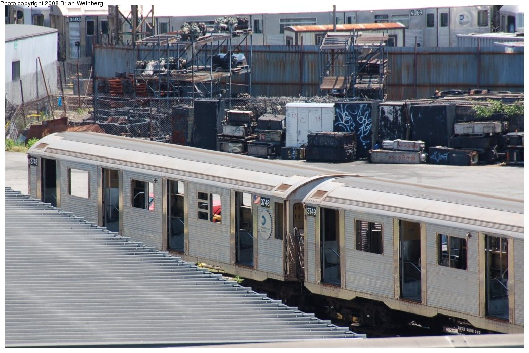 (271k, 1044x697)<br><b>Country:</b> United States<br><b>City:</b> New York<br><b>System:</b> New York City Transit<br><b>Location:</b> 207th Street Yard<br><b>Car:</b> R-32 (Budd, 1964)  3748/3749 <br><b>Photo by:</b> Brian Weinberg<br><b>Date:</b> 5/26/2008<br><b>Viewed (this week/total):</b> 0 / 1421