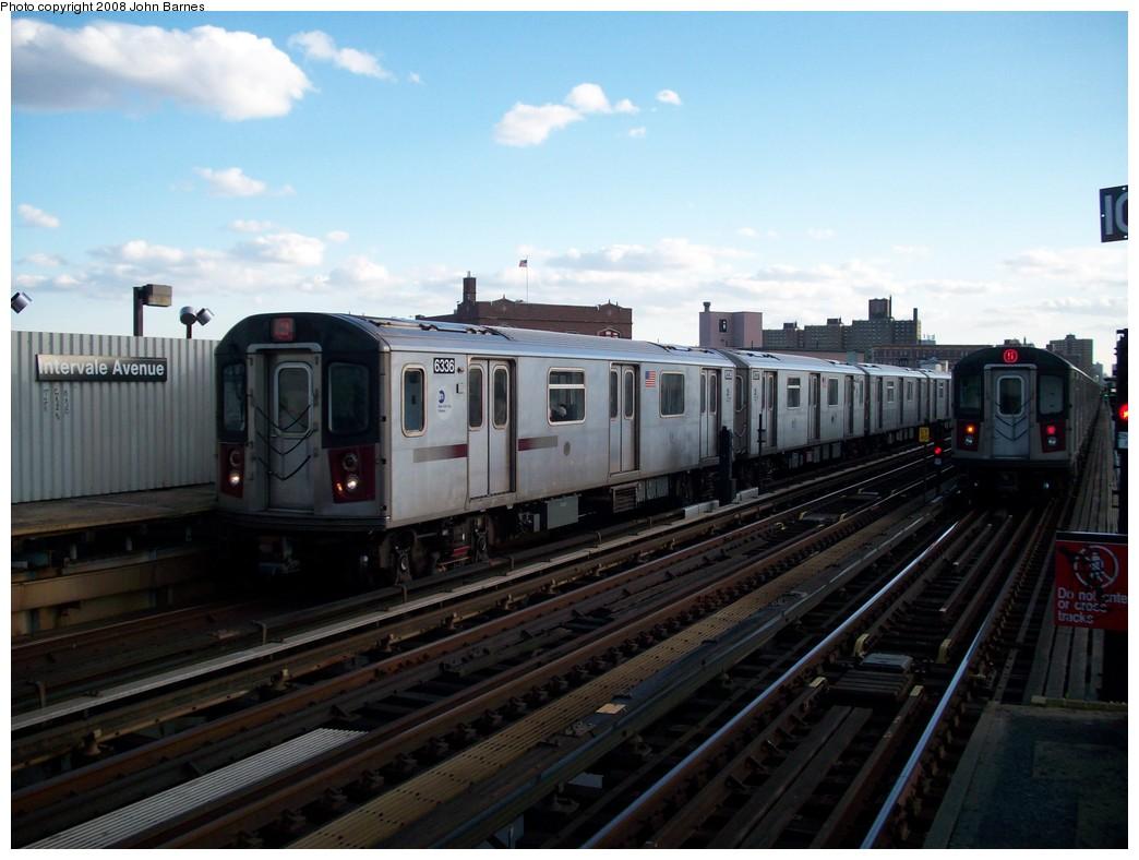 (184k, 1044x788)<br><b>Country:</b> United States<br><b>City:</b> New York<br><b>System:</b> New York City Transit<br><b>Line:</b> IRT White Plains Road Line<br><b>Location:</b> Intervale Avenue <br><b>Route:</b> 2<br><b>Car:</b> R-142 (Primary Order, Bombardier, 1999-2002)  6336 <br><b>Photo by:</b> John Barnes<br><b>Date:</b> 5/19/2008<br><b>Viewed (this week/total):</b> 0 / 2464