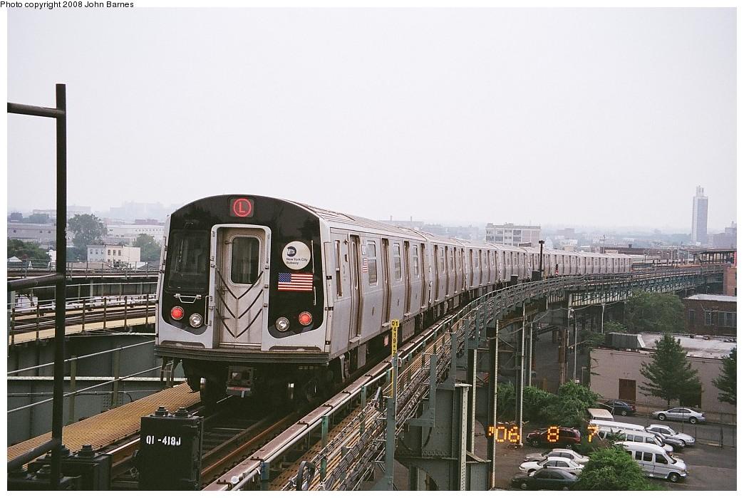 (217k, 1044x699)<br><b>Country:</b> United States<br><b>City:</b> New York<br><b>System:</b> New York City Transit<br><b>Line:</b> BMT Canarsie Line<br><b>Location:</b> Broadway Junction <br><b>Route:</b> L<br><b>Car:</b> R-143 (Kawasaki, 2001-2002) 8241 <br><b>Photo by:</b> John Barnes<br><b>Date:</b> 8/6/2006<br><b>Viewed (this week/total):</b> 1 / 1383