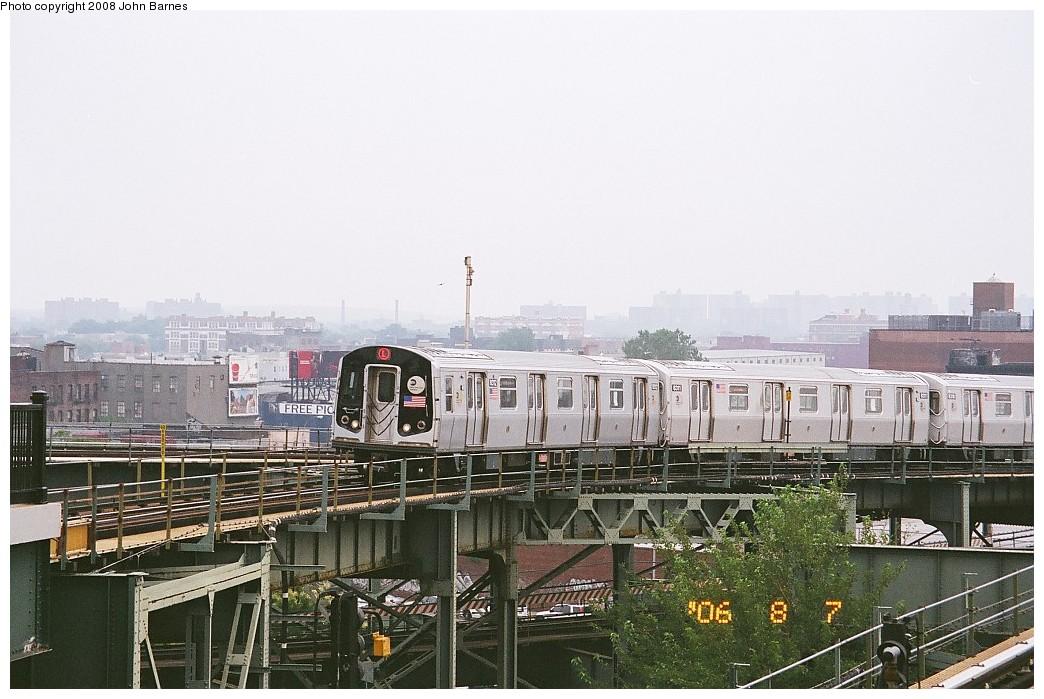 (214k, 1044x699)<br><b>Country:</b> United States<br><b>City:</b> New York<br><b>System:</b> New York City Transit<br><b>Line:</b> BMT Canarsie Line<br><b>Location:</b> Broadway Junction <br><b>Route:</b> L<br><b>Car:</b> R-143 (Kawasaki, 2001-2002) 8312 <br><b>Photo by:</b> John Barnes<br><b>Date:</b> 8/6/2006<br><b>Viewed (this week/total):</b> 2 / 1335