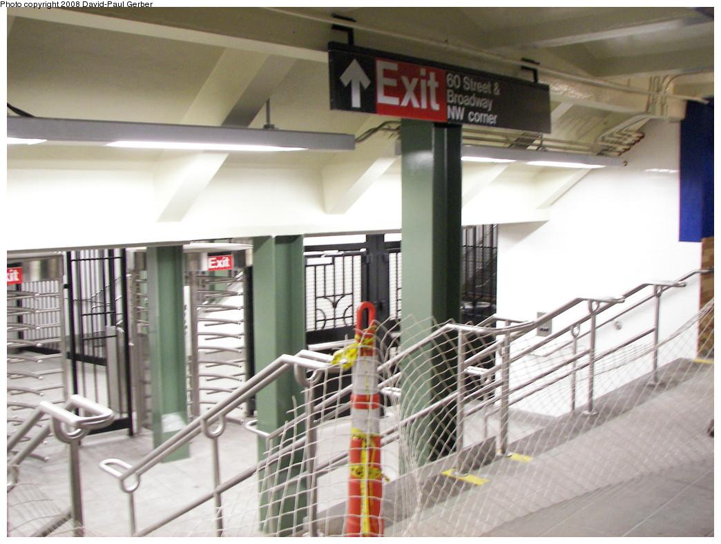 (267k, 1044x788)<br><b>Country:</b> United States<br><b>City:</b> New York<br><b>System:</b> New York City Transit<br><b>Line:</b> IRT West Side Line<br><b>Location:</b> 59th Street/Columbus Circle <br><b>Photo by:</b> David-Paul Gerber<br><b>Date:</b> 5/24/2008<br><b>Notes:</b> New entrance at Columbus Circle IRT<br><b>Viewed (this week/total):</b> 2 / 1784