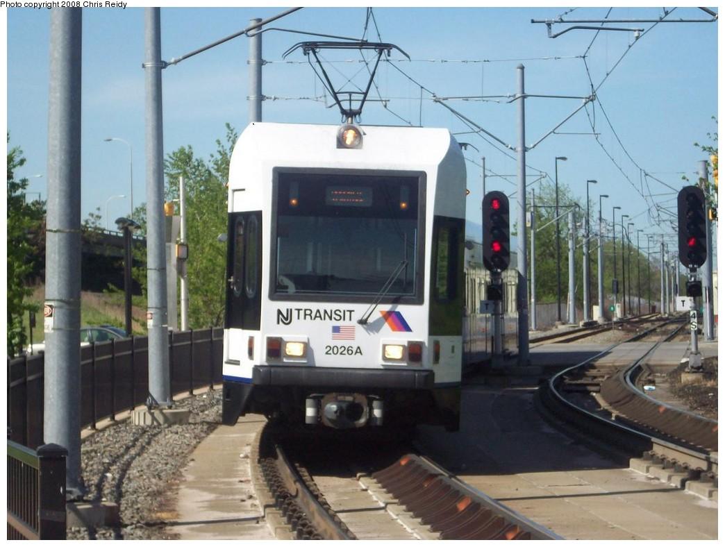 (201k, 1044x788)<br><b>Country:</b> United States<br><b>City:</b> Jersey City, NJ<br><b>System:</b> Hudson Bergen Light Rail<br><b>Location:</b> Liberty State Park <br><b>Car:</b> NJT-HBLR LRV (Kinki-Sharyo, 1998-99)  2026 <br><b>Photo by:</b> Chris Reidy<br><b>Date:</b> 5/11/2008<br><b>Viewed (this week/total):</b> 0 / 904