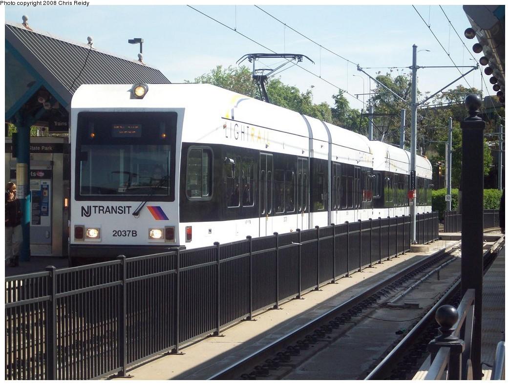 (240k, 1044x788)<br><b>Country:</b> United States<br><b>City:</b> Jersey City, NJ<br><b>System:</b> Hudson Bergen Light Rail<br><b>Location:</b> Liberty State Park <br><b>Car:</b> NJT-HBLR LRV (Kinki-Sharyo, 1998-99)  2037 <br><b>Photo by:</b> Chris Reidy<br><b>Date:</b> 5/11/2008<br><b>Viewed (this week/total):</b> 1 / 819