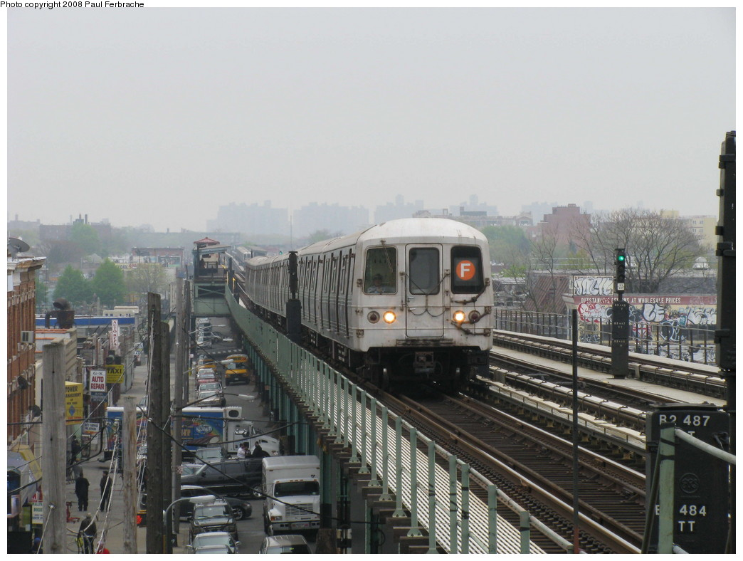 (206k, 1044x788)<br><b>Country:</b> United States<br><b>City:</b> New York<br><b>System:</b> New York City Transit<br><b>Line:</b> BMT Culver Line<br><b>Location:</b> Avenue I <br><b>Route:</b> F<br><b>Car:</b> R-46 (Pullman-Standard, 1974-75) 5628 <br><b>Photo by:</b> Paul Ferbrache<br><b>Date:</b> 5/2/2008<br><b>Viewed (this week/total):</b> 0 / 1727