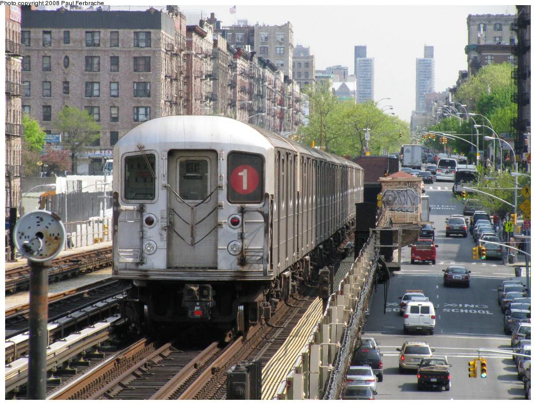 (305k, 1044x788)<br><b>Country:</b> United States<br><b>City:</b> New York<br><b>System:</b> New York City Transit<br><b>Line:</b> IRT West Side Line<br><b>Location:</b> 125th Street <br><b>Route:</b> 1<br><b>Car:</b> R-62A (Bombardier, 1984-1987)  2311 <br><b>Photo by:</b> Paul Ferbrache<br><b>Date:</b> 5/1/2008<br><b>Viewed (this week/total):</b> 0 / 2229