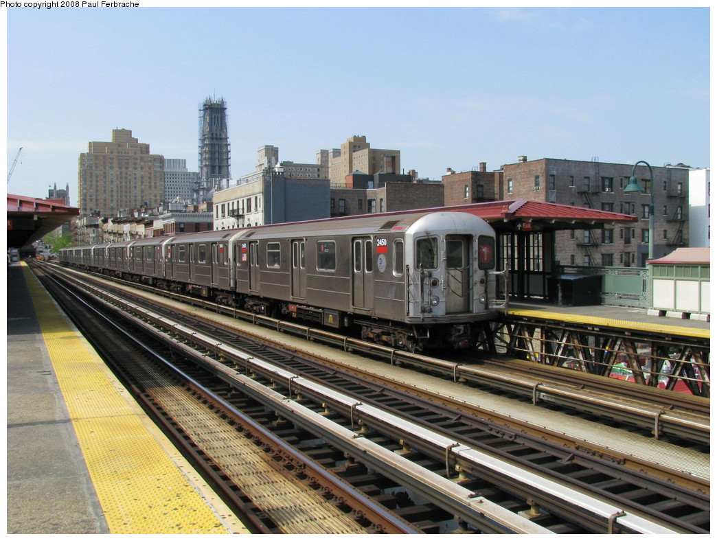 (251k, 1044x788)<br><b>Country:</b> United States<br><b>City:</b> New York<br><b>System:</b> New York City Transit<br><b>Line:</b> IRT West Side Line<br><b>Location:</b> 125th Street <br><b>Route:</b> 1<br><b>Car:</b> R-62A (Bombardier, 1984-1987)  2450 <br><b>Photo by:</b> Paul Ferbrache<br><b>Date:</b> 5/1/2008<br><b>Viewed (this week/total):</b> 1 / 1418
